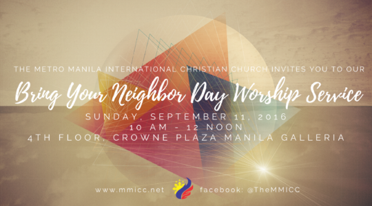 Bring Your Neighbor Day Worship Service