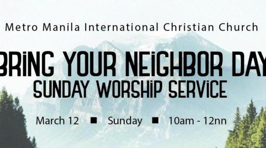 Regional Sunday Worship Services