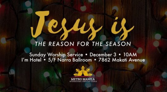 Jesus is the Reason for this Season.